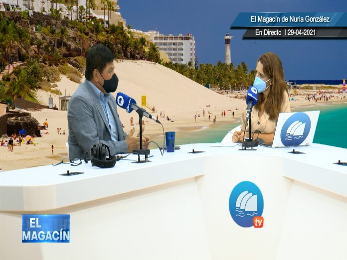 Pedro Armas en una reciente visita a Onda Fuerteventura