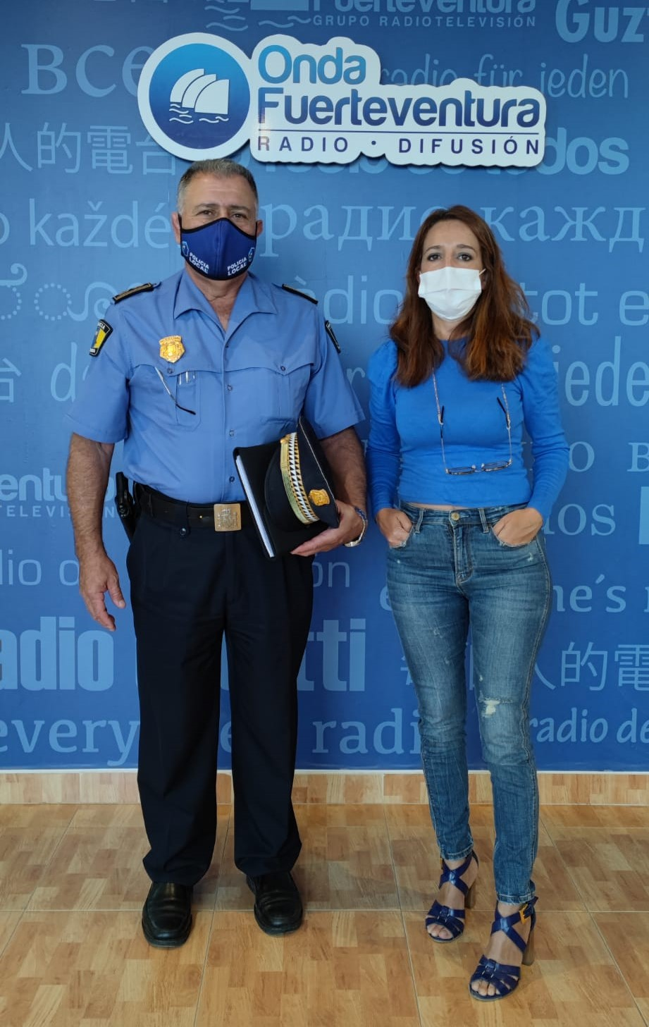 34686e1a-eaf7-4f2f-b434-a4d807636887 La Policía Local de Canarias distingue el trabajo de los sanitarios de Fuerteventura