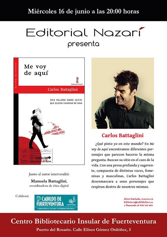 11-junio-2021-BATAGLINI Carlos Battaglini presenta 'Me voy de aquí' en el Centro Bibliotecario Insular