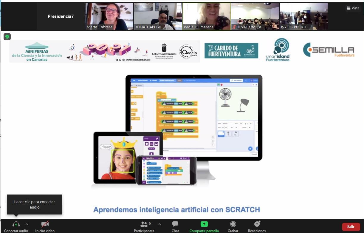 16-junio-2021-MINIFERIAS Escolares de todo Canarias se inician en inteligencia artificial