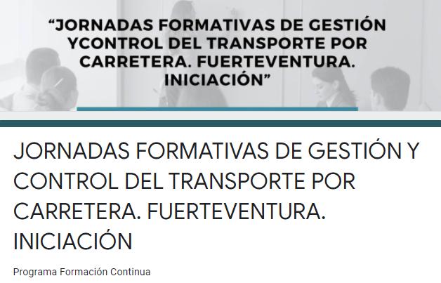 FORMULARIO Formación para el control del transporte por carretera