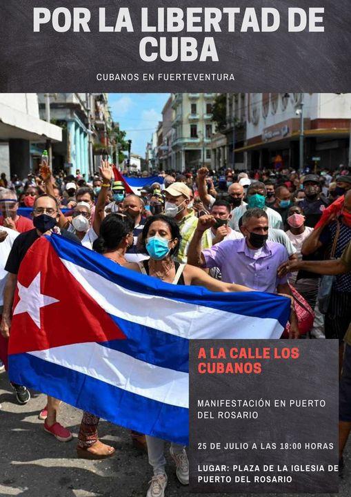 219727484_10224202583885785_630944015091497051_n El pueblo cubano regresa este domingo a las calles de Fuerteventura
