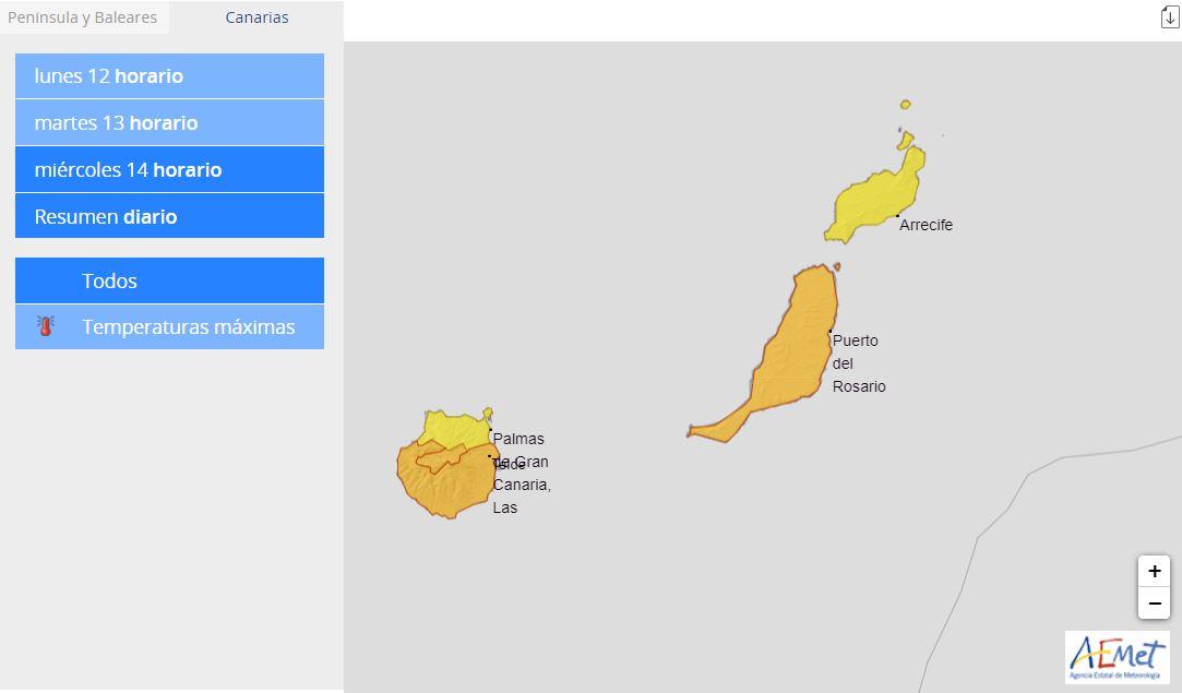 Alerta-AEMET-3 Pájara registra la temperatura más alta de España