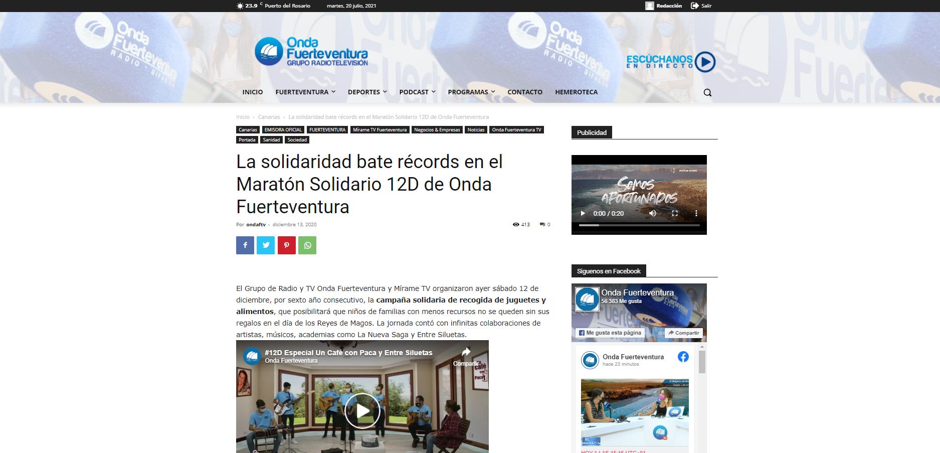 """Captura-de-pantalla-603 """"A Pie de Calle"""" de Onda Fuerteventura cumple siete años"""