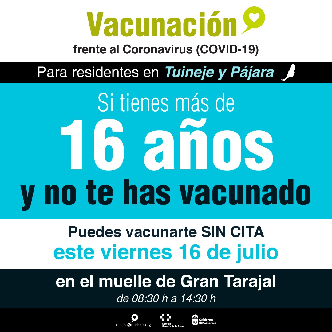 Cartela-vacunacion-sin-cita-Fuerteventura Fuerteventura sube a Nivel 3 por el repunte de contagios