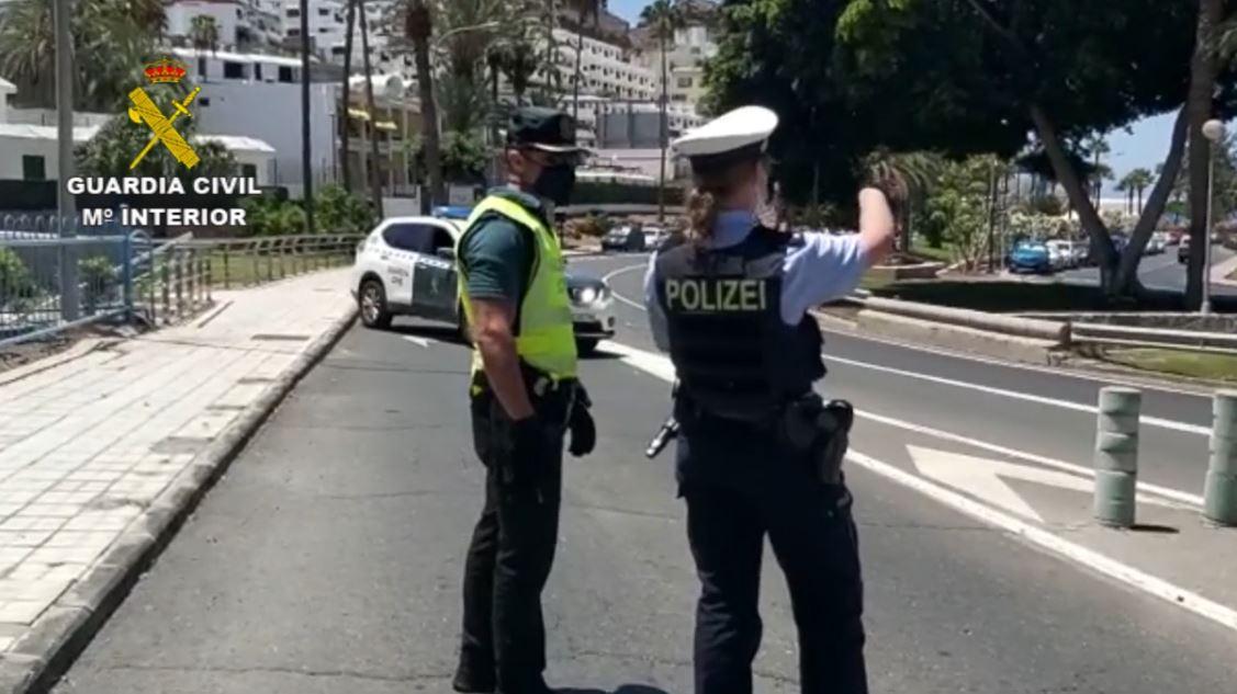 Guardia-Civil-y-Policia-Alemana Patrullas mixtas internacionales en las zonas turísticas