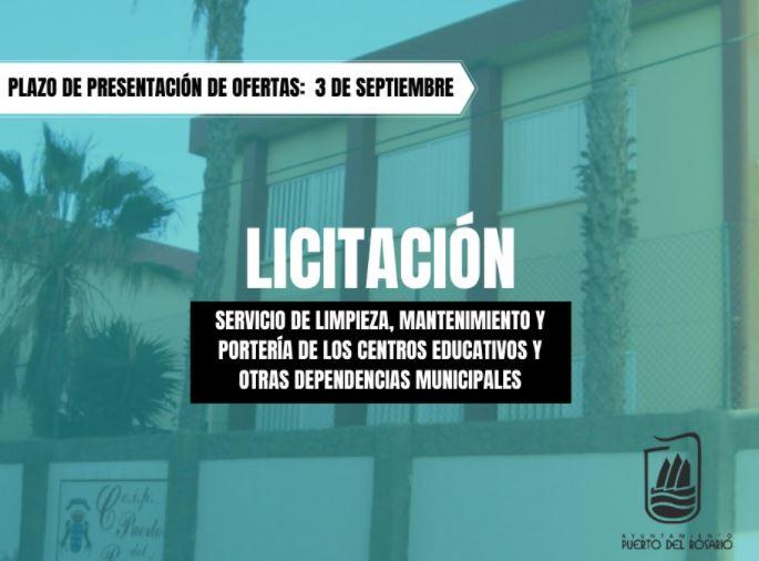 Licitacion A licitación la limpieza, mantenimiento y portería de dependencias municipales en Puerto del Rosario