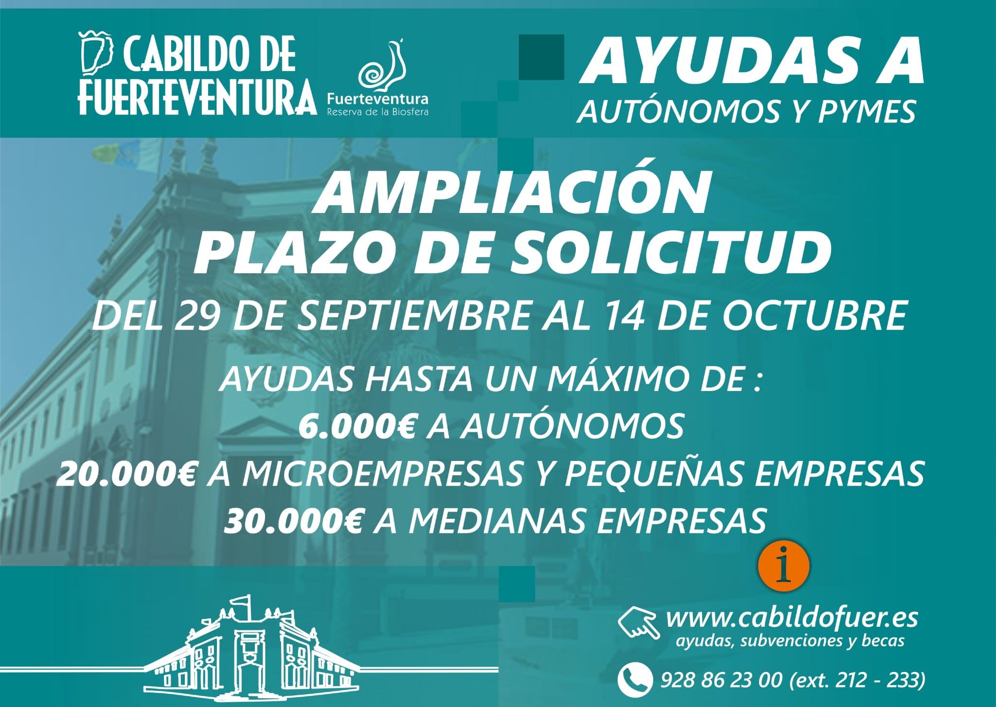 27-septiembre-2021-AMPLIACION-PLAZO Ampliado el plazo de las ayudas a autónomos y pymes hasta el 14 de octubre